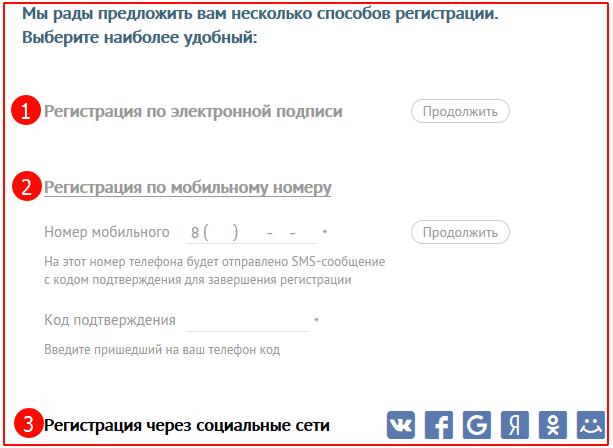Регистрация физического лица в системе СБИС